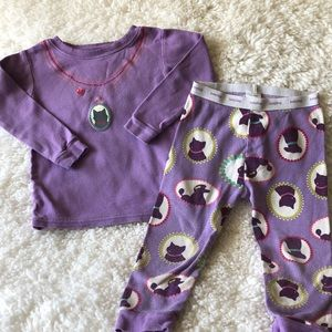 Gap girls kitty pajamas